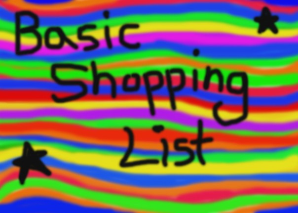 basic shopping list